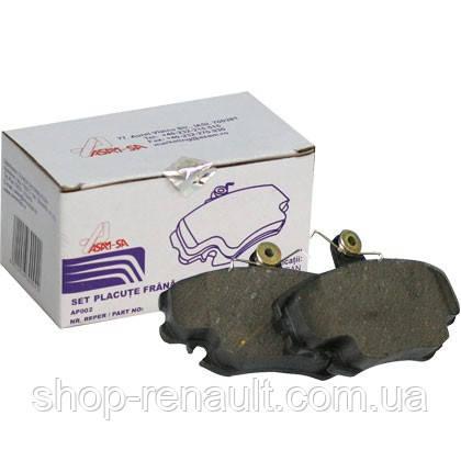 Тормозные колодки передние с пластинами Asam 30094 6001547619; 6001547911