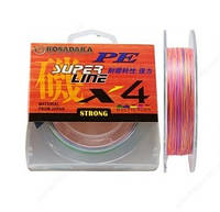 Шнур Kosadaka PE Super Line X4 150m 0.18mm 10.10kg Multicolor