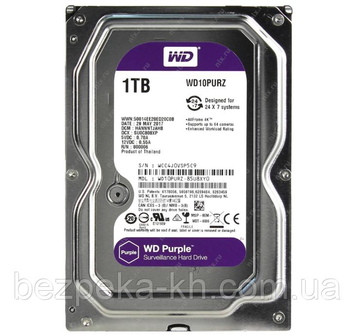 Купить Жесткий диск 3.5 SATA 1Tb WD Purple WD10PURZ, WDC