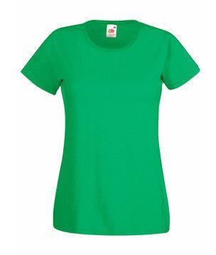 Женская футболка однотонная  372-47-В412  fruit of the loom