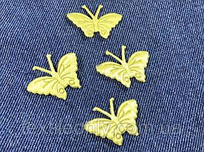 Нашивка Бабочка Золотая 27x35 мм