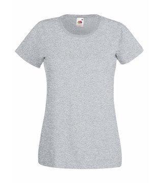 Женская футболка однотонная  372-94-В416 fruit of the loom