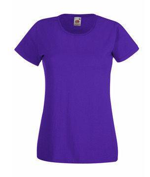 Женская футболка однотонная  372-РЕ-В417 fruit of the loom