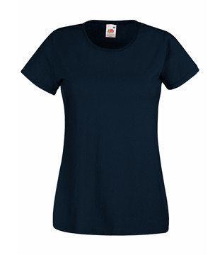 Женская футболка однотонная  372-AZ-В420 fruit of the loom