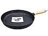 Сковорода чугунная 280*40 мм. с деревянной ручкой