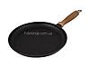 Сковорода чугунная для блинов 240*20 мм. с деревянной ручкой