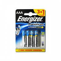 Батарейки Energizer Maximum FSB4 AAA/LR03 BL 4шт, фото 1