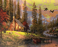 Картина по номерам «Дом в лесу» (50х40 см) набор