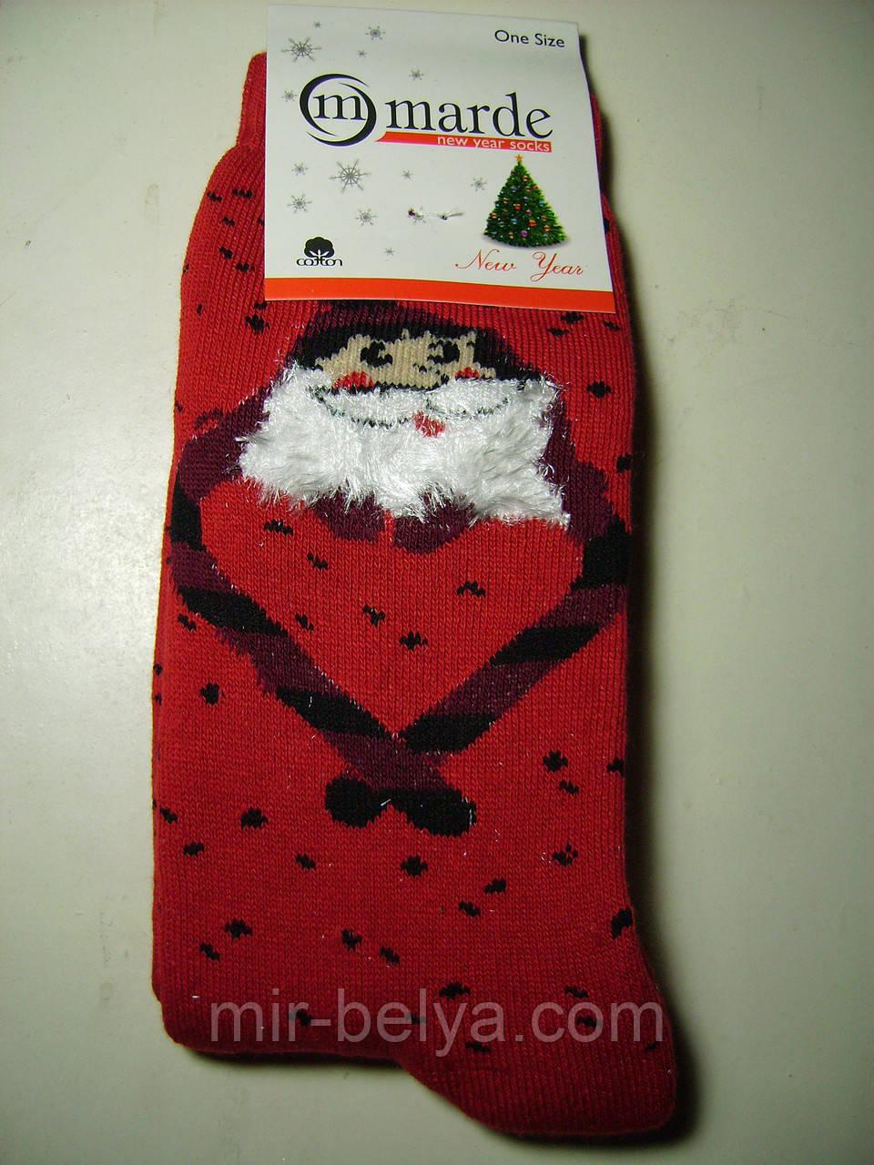 Женские теплые новогодние носки MARDE Санта Клаус