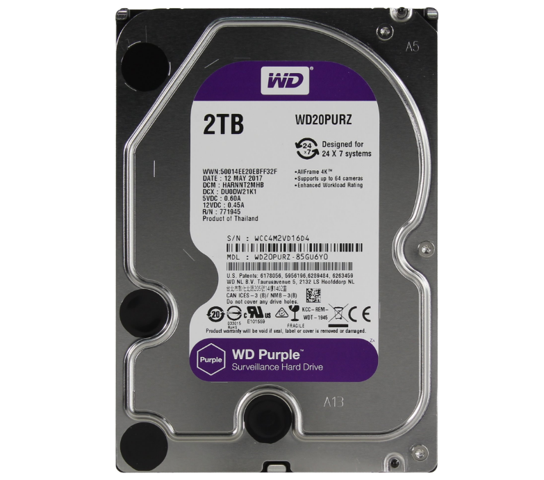 "Жорсткий диск 3.5"" SATA 2Tb WD Purple WD20PURZ"