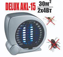Ловушка для комаров, мух, ультрафиолетовая лампа, светильник DELUX AKL-15,с вентилятором