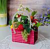 Композиция на кухню с фруктами в сумочке