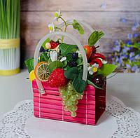 Композиция на кухню с фруктами в сумочке, фото 1