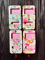 "Чехол книжка с окошком ""Flowers"" для Meizu MX5 (4 цвета)"