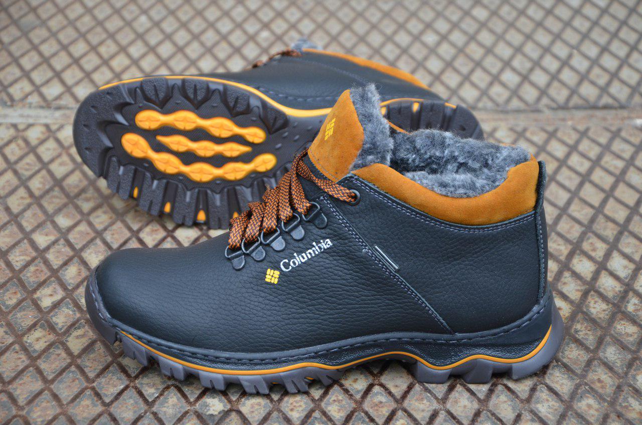 03bbe722c6fb Мужские зимние кожаные ботинки Columbia реплика. КОД  Columbia М-93 ...