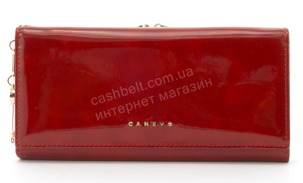 Стильный лаковый многофункциональный женский прочный кошелек CANEVOart. J6210 красный