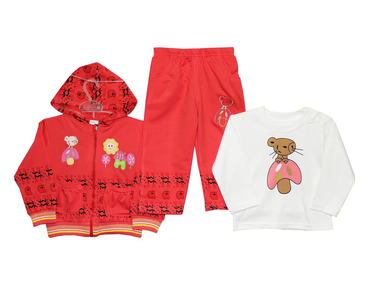 Костюмы детские тройки для девочки №3611