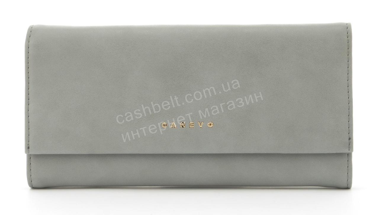 Стильный многофункциональный женский прочный кошелек из эко кожиCANEVOart. J1681 светло серый
