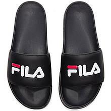 Тапки мужские Fila - Фила (черные) Top replic