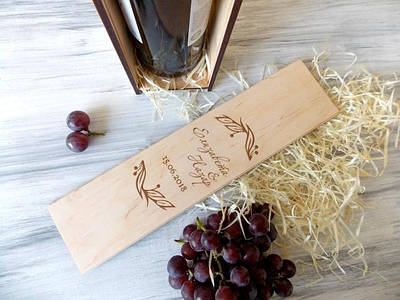 Коробочки под вино и бокалы