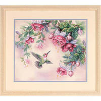 Набор для вышивания крестом Колибри и Фуксии/Hummingbird & Fuchsias DIMENSIONS 13139