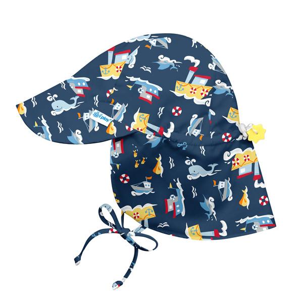 I Play - Солнцезащитная панамка Flap Sun, 0-6 месяцев, цвет Navy Tugboat