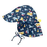 I Play - Солнцезащитная панамка Flap Sun, 0-6 месяцев, цвет Navy Tugboat, фото 1