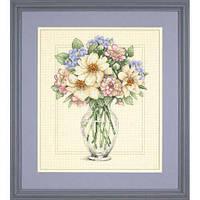 Набор для вышивания крестом Цветы в высокой вазе/Flowers in Tall Vase DIMENSIONS 35228