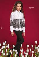 Блуза нарядная с черным кружевом Амалия Suzie Размеры 122-158