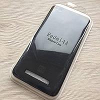 Силиконовый черный чехол для Xiaomi Redmi 4a в упаковке