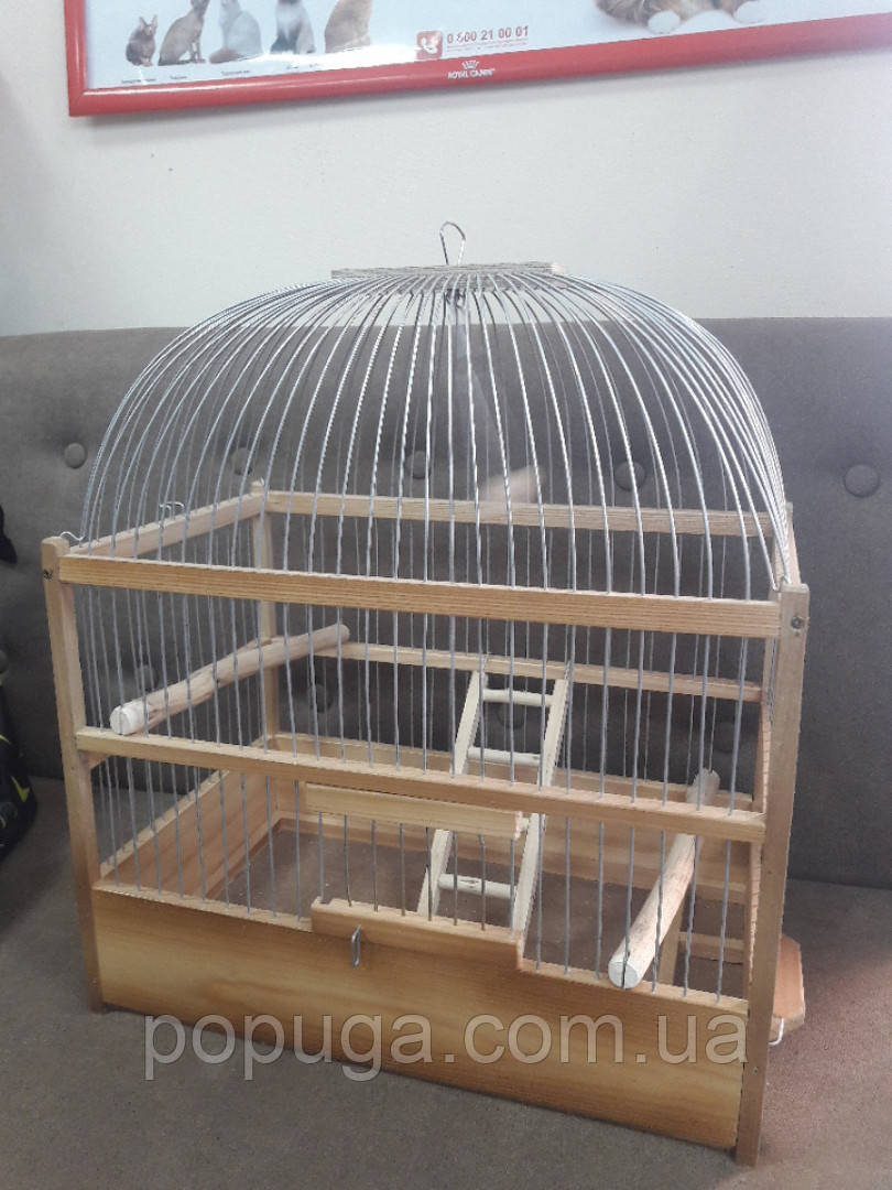 Клетка деревянная для маленьких птиц