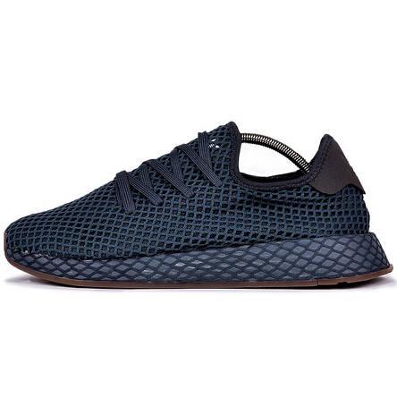 2896ad61 Кроссовки мужские Adidas DEERUPT RUNNER (синие) Top replic: продажа ...
