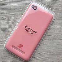 Силиконовый розовый чехол для Xiaomi Redmi 4a в упаковке