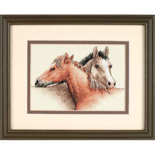 Набор для вышивания крестом Лошади/Horse Pals DIMENSIONS 65030