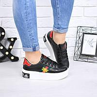 Кроссовки женские Bee черные 4602, спортивная обувь