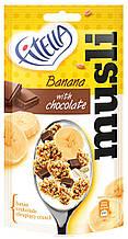 Мюсли банановые с кусочками шоколадом Fitella, 50 гр