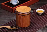 Банка для сыпучих и жидких продуктов бамбук 19 см