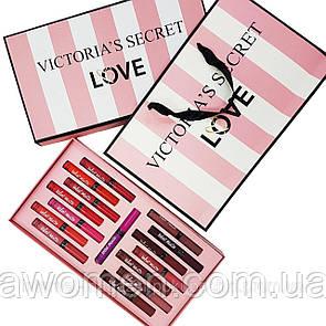 Набор жидких матовых помад Victoria's Secret Velvet Matte (15 цветов)