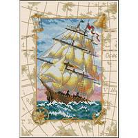 Набор для вышивания крестом Путешествие на море/Voyage at Sea DIMENSIONS  06847