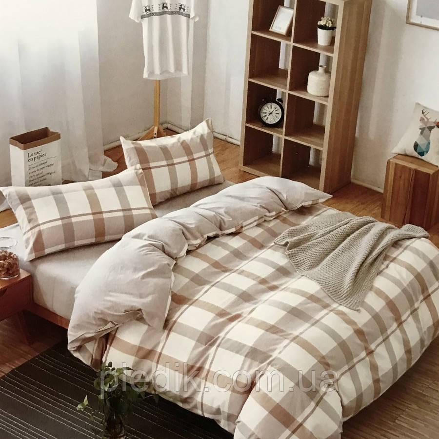 Двуспальное (евро) постельное белье 200х220 Французский лен Prestij Textile 76281
