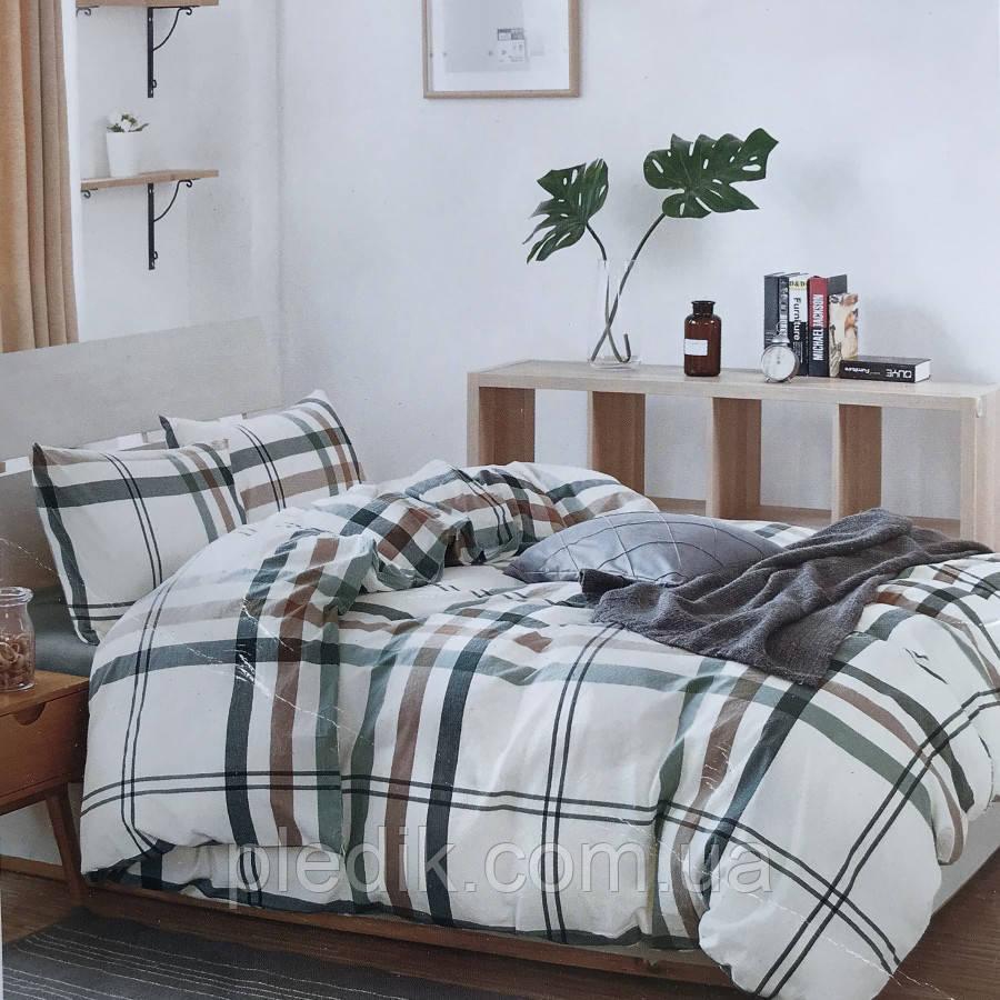 Двуспальное (евро) постельное белье 200х220 Французский лен Prestij Textile 76938
