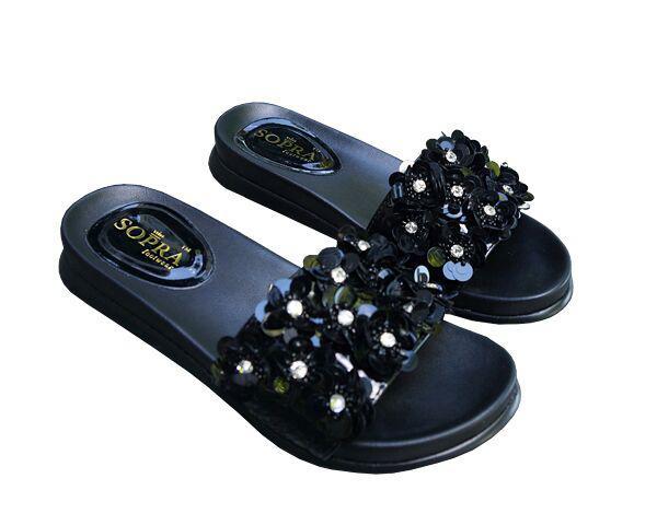 Шлепанцы Allshoes с пайетками 41 Черные (50970/41)