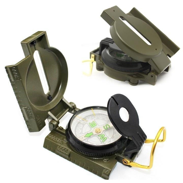 Функциональный военный компас игровой цвет армейский зеленый