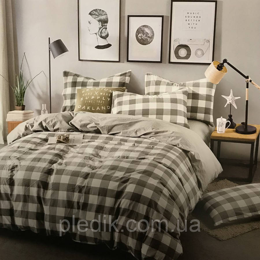 Двуспальное (евро) постельное белье 200х220 Французский лен Prestij Textile 76259