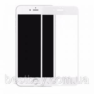Стекло iPhone 7,8 (0.3 мм, 3D,4D), Japan, белое, с олеофобным покрытием)