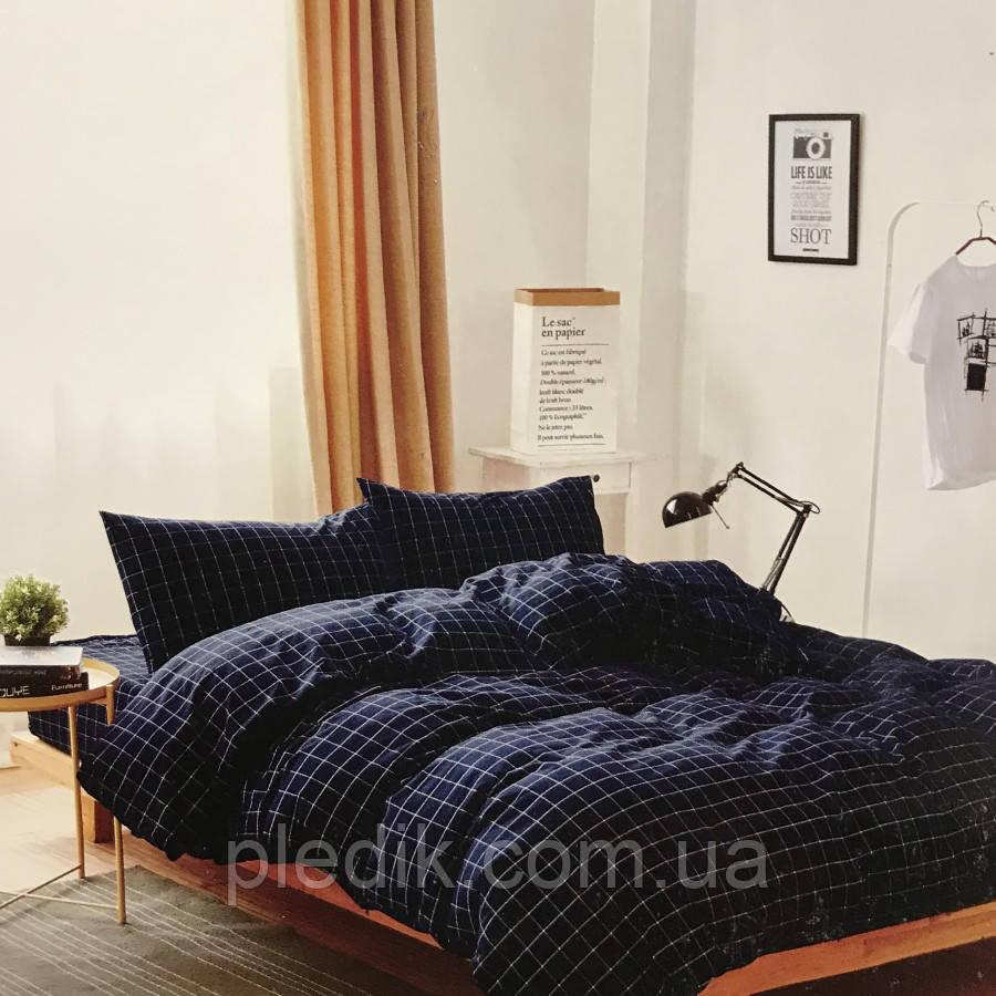 Двуспальное (евро) постельное белье 200х220 Французский лен Prestij Textile 77142