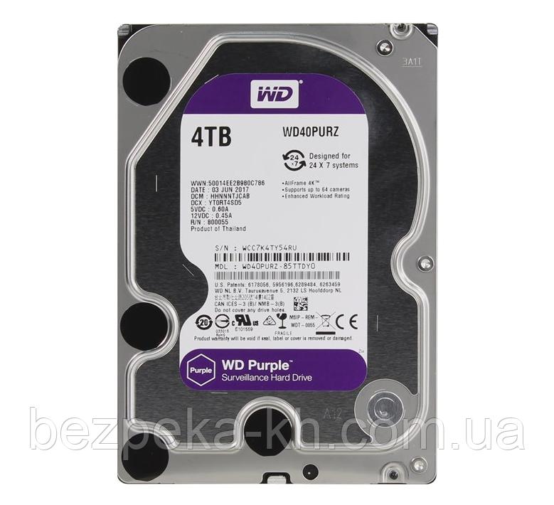 "Жорсткий диск 3.5"" SATA 4Tb WD Purple WD40PURZ"
