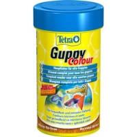 Tetra Guppy Colour хлопья для всех видов гуппи для усиления окраса, 100мл