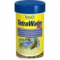 TetraWafer Mix пластинки для травоядных, хищных и донных рыб, 100мл