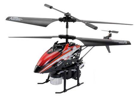 Вертолёт на радиоуправлении 3-к WL Toys V757 BUBBLE мыльные пузыри (красный), фото 2